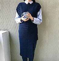 Платье-жилет цвет синий