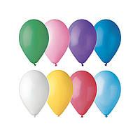 Латексные воздушные шары A60 Gemar Италия, расцветка: пастель ассорти, Диаметр 6 дюймов/16 см, 100 штук в упак