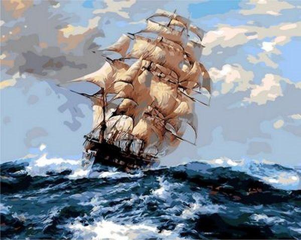 Картины по номерам 40×50 см. На всех парусах (Q-1069)