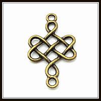 """Коннектор """"кельтский узел"""" бронза (3х1,8 см) 8 шт в уп."""