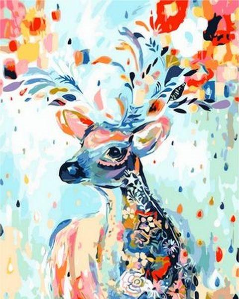 Картины по номерам 40×50 см. Сказочный олень, фото 1