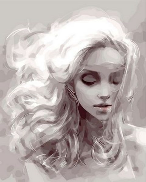 Раскраски для взрослых 40×50 см. Девушка из снов