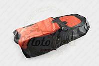 """Чехол сиденья Alpha, CG (черно-красный, KOSO) """"SOFT SEAT"""" (#0002) (код товара S-3082)"""