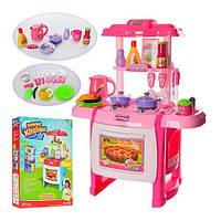 Детская кухня с плитой и духовкой Interest Kitchen 022: посуда + продукты в комплекте