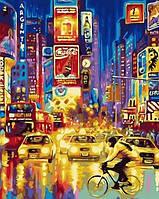 Картины по номерам 40×50 см. Огни большого города, Таймс-сквер — Нью-Йорк