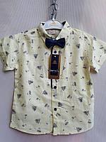 Рубашка нарядная короткий рукав 5-8 лет .Турция