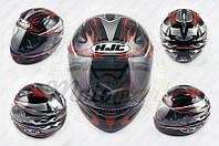 """Шлем-интеграл """"HJC"""" (mod:X1) (size:L, черно-красный) (код товара I-433)"""