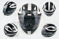 "Шлем-интеграл ""HJC"" (mod:R1) (size:L, черно-белый, CLASSICO) (код товара I-431)"
