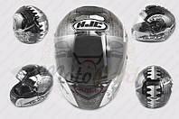 "Шлем-интеграл ""HJC"" (mod:R1) (size:XXL, черно-белый, SAMURAI) (код товара I-362)"