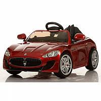 Детский электромобиль Maserati кожа EVA 7664 красный покраска