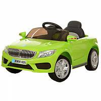 Детский электромобиль BMW кожа EVA 7658 салатовый