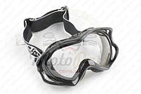 Очки кроссовые (mod:MJ-11, черные с прозрачным стеклом) (код товара O-1481)