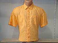 Мужская льняная рубашка с коротким рукавом Bonprix