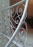 Легкие, воздушные, белые перила с ковкой, фото 4