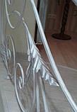 Легкие, воздушные, белые перила с ковкой, фото 6
