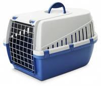Переноска для собак Savic ТРОТТЭР3 (Trotter3), пластик, ярко-голубой | 60,5Х40,5Х39 см.