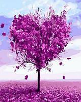 Раскраски для взрослых 40×50 см. Дерево любви, фото 1