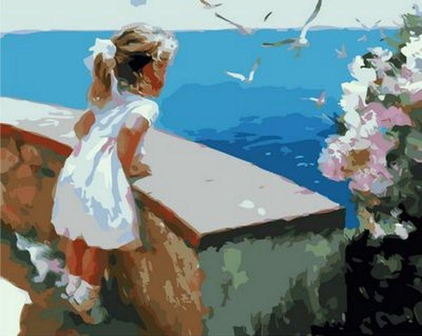 Картины по номерам 40×50 см. Ласковое море Художник Волегов Владимир