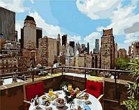 Картины по номерам 40×50 см. Ланч на крыше Художник Ричард Макнейл