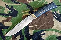 Нож для охоты и рыбалки Славутич, рукоять из дерева ,чехол из кожи