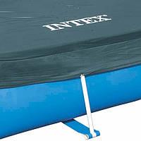 Intex 28038  Тент для прямоугольных каркасных бассейнов Rectangular Pool Cover (размер 300 х 200 см)