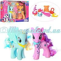 Игровой набор пони Little Pony 725 с аксессуарами: 2 пони (13,5см) , свет + звук