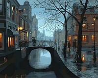 Картины по номерам 40×50 см. Огни Венеции Художник Лушпин Евгений