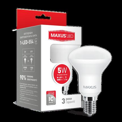 Лампа светодиодная MAXUS R50 5W E14 яркий свет, фото 2