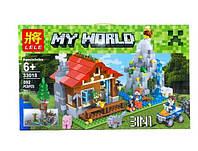 """Конструктор Minecraft Lele 33018 """"Домик в горах 3 в 1"""" 592 детали"""