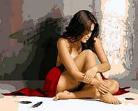 Картины по номерам 40×50 см. Темный ангел