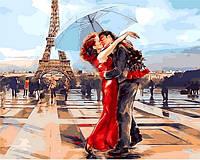Картина по номерам 40×50 см. Париж - город влюбленных