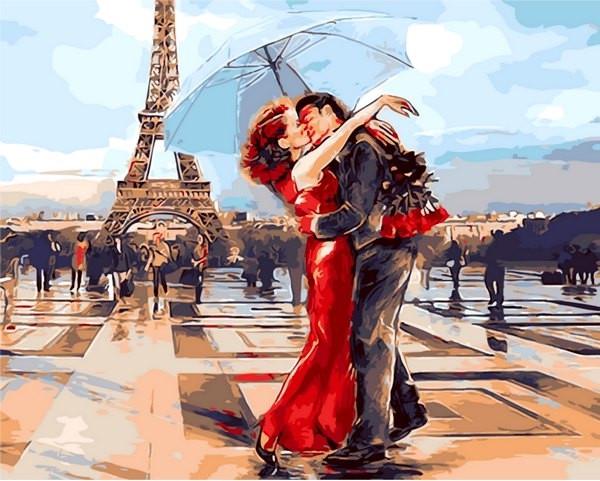 Раскраски для взрослых 40×50 см. Париж - город влюбленных ...