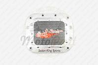 """Наклейка на крышку бака """"SEDAN-KING SPORTS"""" (13х13см, красная) (#1625) (код товара N-1890)"""