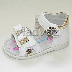 Босоножки сандалии для девочки белые Jong Golf 23р.
