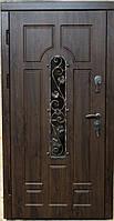Входная уличная дверь (стеклопакет + ковка) модель Герда (два контура уплотнения), фото 1