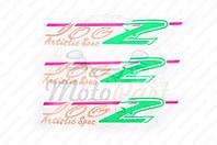 Наклейки (набор) Yamaha JOG ARTISTIC SPEC (22х5см 3шт) (#1207) (код товара N-619)
