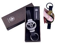 USB зажигалка-брелок в подарочной упаковке Toyota (Спираль накаливания) №4356-1