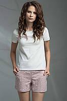 Пижама женская ELLEN футболка + шортики (молочная)