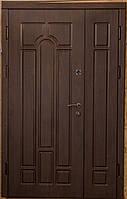 Полуторные  уличные входные двери модель Герда  мдф 16 мм (два контура уплотнителя)