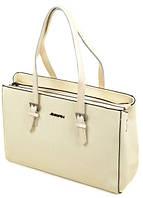 Эффектная сумка из искусственной кожи Podium 3-03 6300-6 beige Бежевый