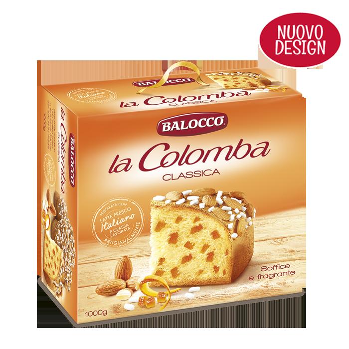 Пасхальный кулич итальянский Balocco la Colomba Classica с цукатами и миндалем 750 г.