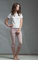 Пижама женская ELLEN футболка + бриджи (молочная)