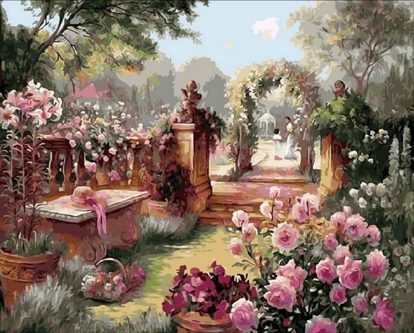 Раскраски для взрослых 40×50 см. Райский сад Художник Бренда Берк