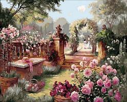 Картинa по номерам 40×50 см. Райский сад Художник Бренда Берк