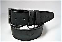 Ремень мужской кожаный 45мм . Ремень из цельной кожи Giorgio Armani