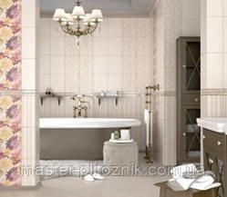Плитка облицовочная для стен ванной комнат кухонь Gobelen бежевый