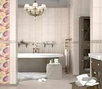 Плитка облицовочная для стен ванной комнат кухонь Gobelen бежевый , фото 1