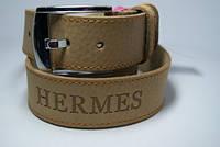 Ремень мужской кожаный 45мм. Ремень из цельной кожи Hermes