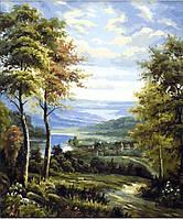 Картины по номерам 40×50 см. Окраина деревни