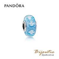 Pandora шарм ГОЛУБОЕ ЦВЕТЕНИЕ 791666 серебро 925 Пандора оригинал